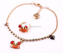 Fashion Chain Anklets with Foot Toe Ring Anklets for Foot,Fashion Jewelry Sets Crab Foot Chain and Toe Ring