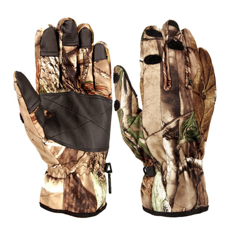 Outdoor camouflage hunting shooting gloves