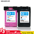 remanufactured ink cartridge for hp 678 printer cartridge chip reset