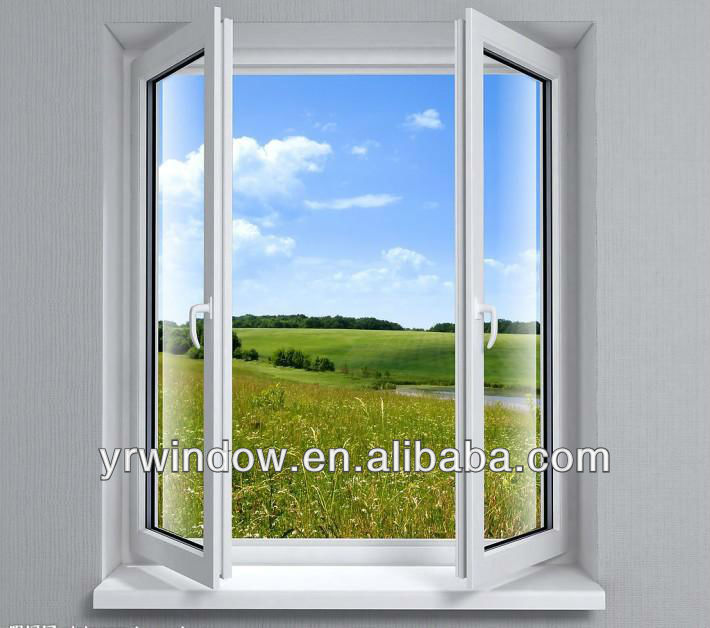 Inward opening casement PVC window with new design