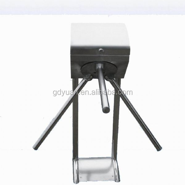 CE approval security retractable electrical gate waist high tripod turnstile