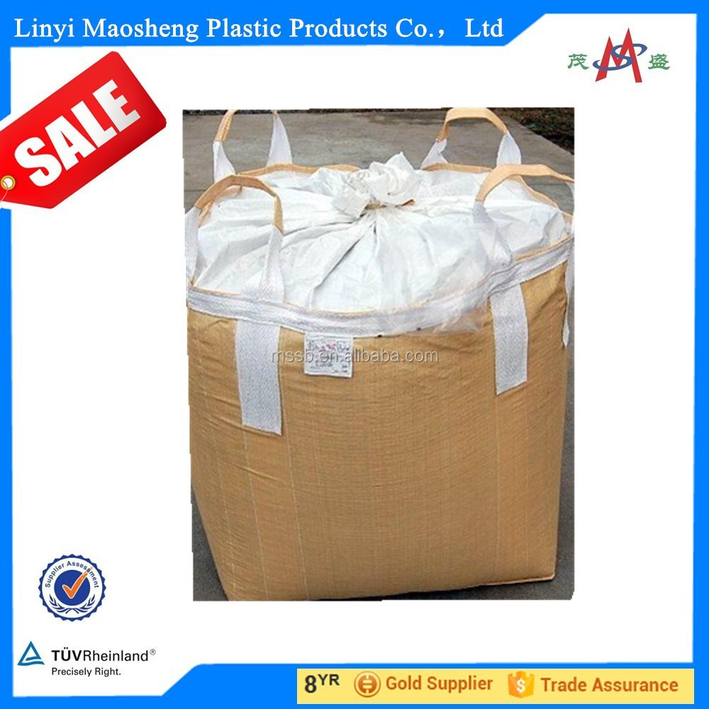 Customized Eco-Friendly Bulks 1Ton PP Woven Sand FIBC Bag