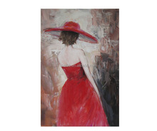 Handpainted Oil Painting Canvas Wall Art Girl Back