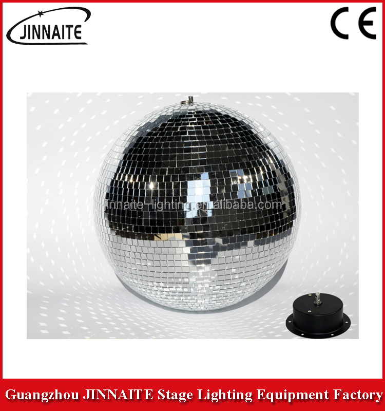 China factory Disco Bar different size reflection rotation glass / mirror ball ceiling stage light