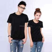 Factory direct sale short sleeve cheap soild color unisex t-shirt plain black unisex t shirt