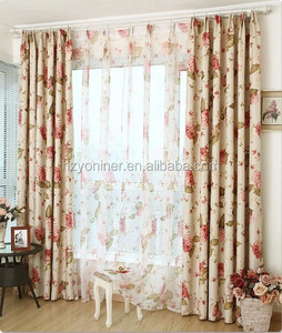 3 pass transfer printed small flower window blackout curtain fabric