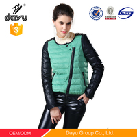Nesigns for ladies suit Cheap wholesale Jacket woman zipper connect clothing women's jackets Motorcycle Jacket