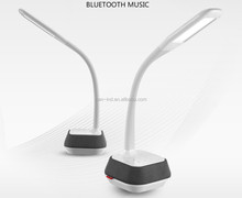 WILIT reading light flexible arm lamp Bluetooth Speaker Touch Dimmer led reading flexible clamp desk lamp with 5V/1A usb output
