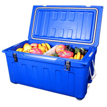 Roto molded cooler box insulated ice bin fishing ice chest