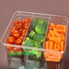 GH6 Disposable plastic food tray for vegetables with high quality