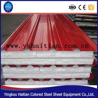 Low cost prefabricated house and wall,roof panel eps sandwich panel