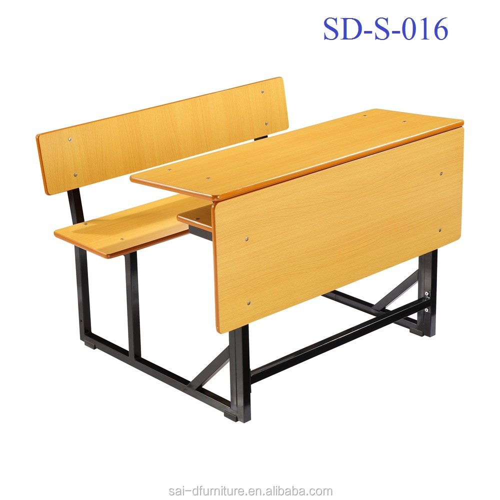 SD-S-016 Middle School Furniture Classroom Double Combination School Chairs And Tables