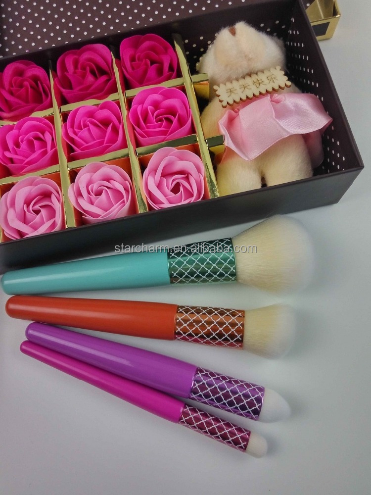 New design color choosed professional makeup brushes free samples