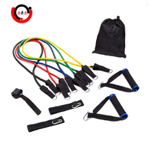 Factory Supply Exercise Sports Stretch Band Expander Resistance Tube Set