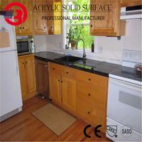 Shenzhen Baotrol artificial Marble/Stone/Quartz kitchen restaurant counter top with wooden cabinet