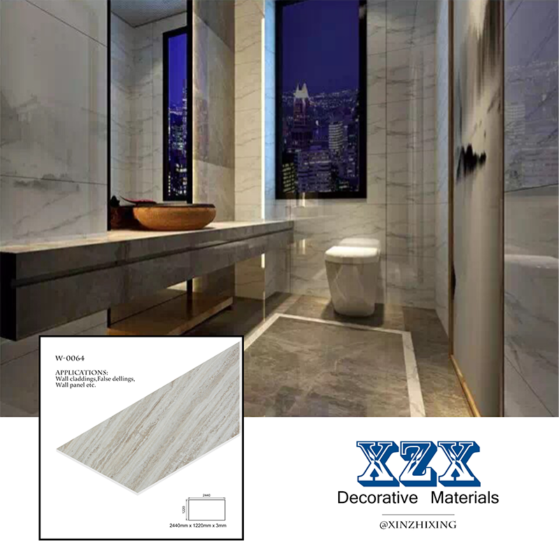 China Cheap Best Sell 3d Pvc Wall Panel Marble Patterned Acrylic Sheet For Bathroom