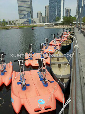 Xueming amusement park water pedal rowing boat