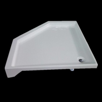 DOMO Hot Sale Shower Tray Cover Shower Tray High Edged Supplier Shower Tray Pentagonal diamond Factory