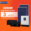 Portable Solar power System for home lighting 3000w Off-grid Solar Panel System with changer