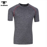 Wholesale stock item Men's fitness yoga gym cationic short sleeve t-shirt