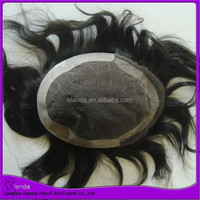 Human hair toupee French lace replacement hair piece toupee