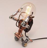 6.6-02 Unique Handmade Robot LED Metal Adjustable Bedside table Lamp home decoration lamp