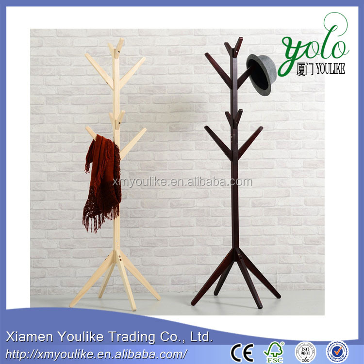 Living room furniture coat rack stand,bamboo coat rack tower stand hanger