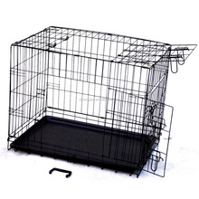 foldable metal portable wire dog cage kennel crate case