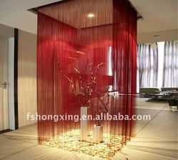 SSC4 red charismatic and weeding string curtain which size is 3mx3m