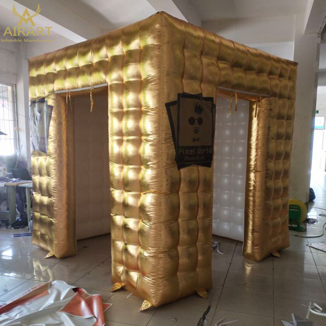 Fast shipping photobooth portable,photo booth tent,golden photo booth <strong>inflatable</strong> for sale