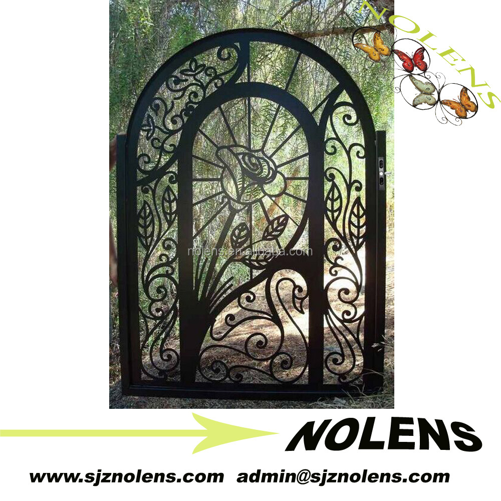wrought iron gate design/Cheap fence gates/ yard wrought iron fence gate
