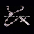 Cheap saint religious catholic alloy st Benedict prayer rosary necklace chaplet with cross