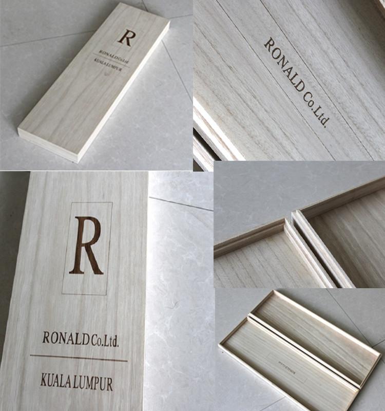 Natural Unfinished Wood Pencil Pastel Storage Box