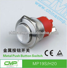 CMP 19mm Metal Stainless steel Push Button Switch,car angel eyes switch,DC12V LED,car modification waterproof IP68 switch