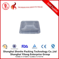4 compartment tray divided food trays plastic frozen food tray