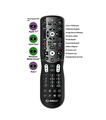 Inteset INT-422 4-in-1 Universal Backlit IR Learning Remote Control for Apple TV, Xbox One, Roku & Media Center