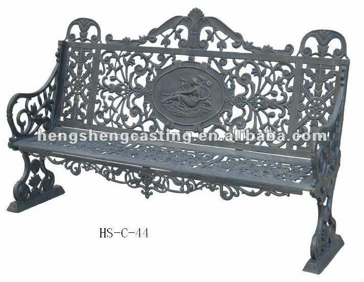 banco de jardim antigo : banco de jardim antigo: banco do jardim da mobília do pátio/antigo banco de jardim ferro