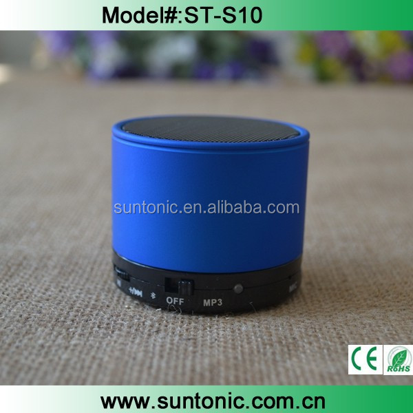 S10 PORTABLE BLUETOOTH MINI SPEAKER FOR IPHONE, IPOD, MP3/4, TABLETS PHONES USB S3 S4