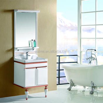 2016 New design bathroom corner cabinet pvc bathroom wash basin cabinet pvc bathroom cabinet