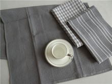100% cotton material and woven technics jacquard tea towel
