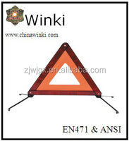 CE car accessory red traffic warning triangle for emergency