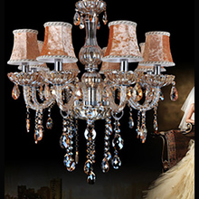 Circle Glass Hanging Ceiling Lights Czech Crystal Chandelier