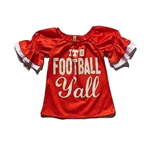 ruffle children's American football team style summer baby tops clothes infant boutique kids t-shirt ruffle