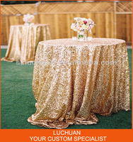 Fancy Custom-made Color Sequin Table Cloth For Wedding