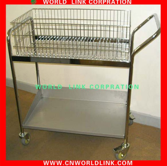 Chrome Plated Office File Cart