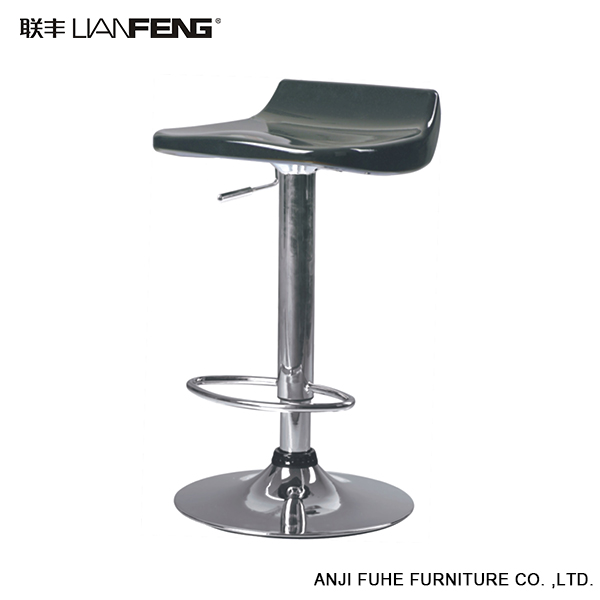 LIANFENG silver fashionable ABS flat bar stool