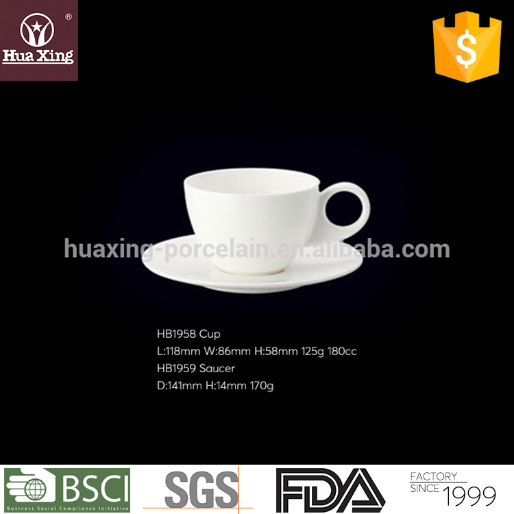 Wholesale elegant fine bone china cappuccino cups with saucer