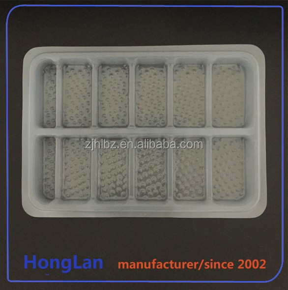 Customized Good quality blister plastic cookie tray,plastic packing box for chocolate