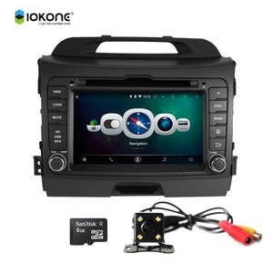 Iokone Android 4.4 7 inch Car GPS Navigation System Car DVD Player for KIA Sportage R 2010-2012 Car GPS Navigation with USB SD