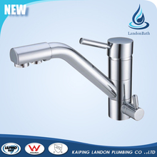 Sanitary ware deck mounted drinking water spout faucet with 2 spout